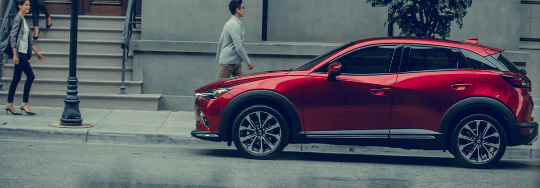 2020 Mazda CX-3 Color Options parked on a street