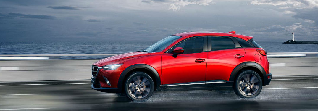 2020 Mazda CX-3 driving on a highway