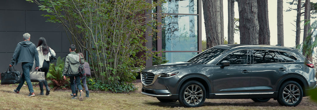 2020 Mazda CX-9 parked by a house