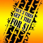 Buy 3 tires, get the 4th for one dollar