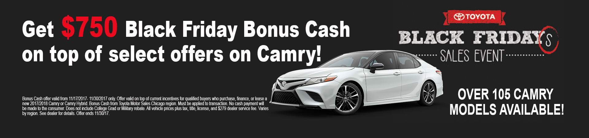 Get Your New Toyota Black Friday deals at Andrew Toyota!