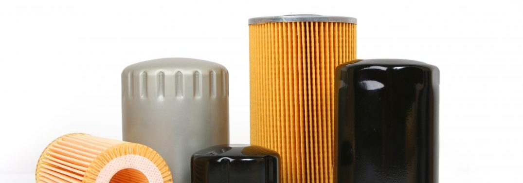 A variety of oil filters of different shapes and sizes