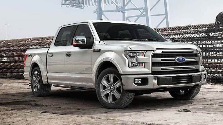 2015 Ford F-150 on a worksite
