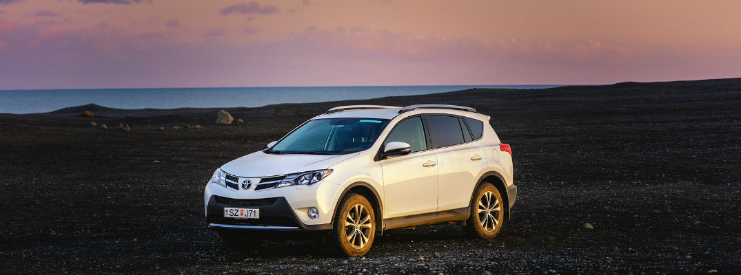 Toyota RAV4 4-Wheel Drive on Gravel Terrain