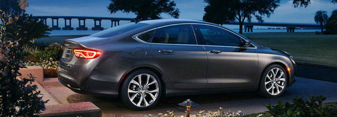 Chrysler 200 parked showing side profile