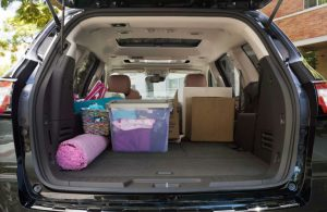 Chevy Traverse rear cargo area