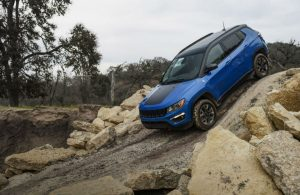 Jeep Compass driving off-road
