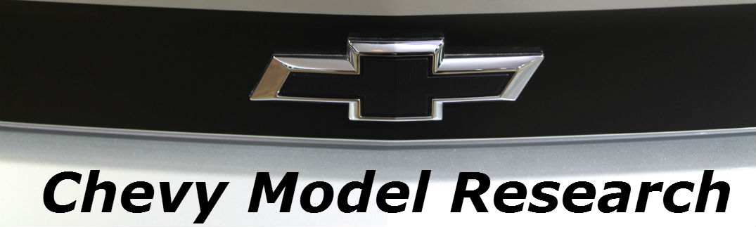 Chevy logo with Chevy model research text