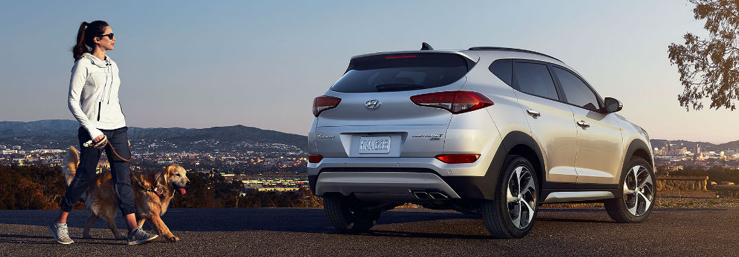 2018 Hyundai Tuscon parked showing rear profile