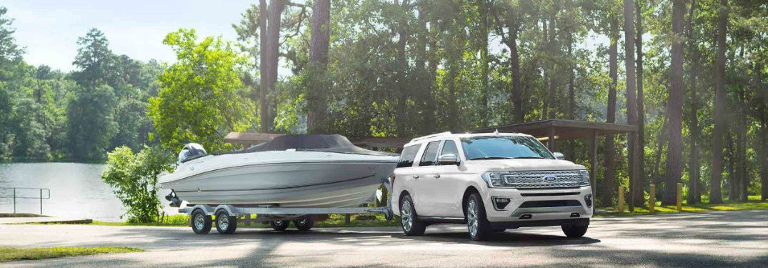 Ford Expedition towing a boat