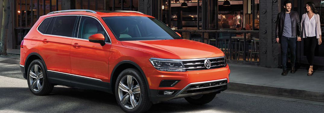 Volkswagen Tiguan crossover SUV offers a large interior with plenty of passenger and cargo space