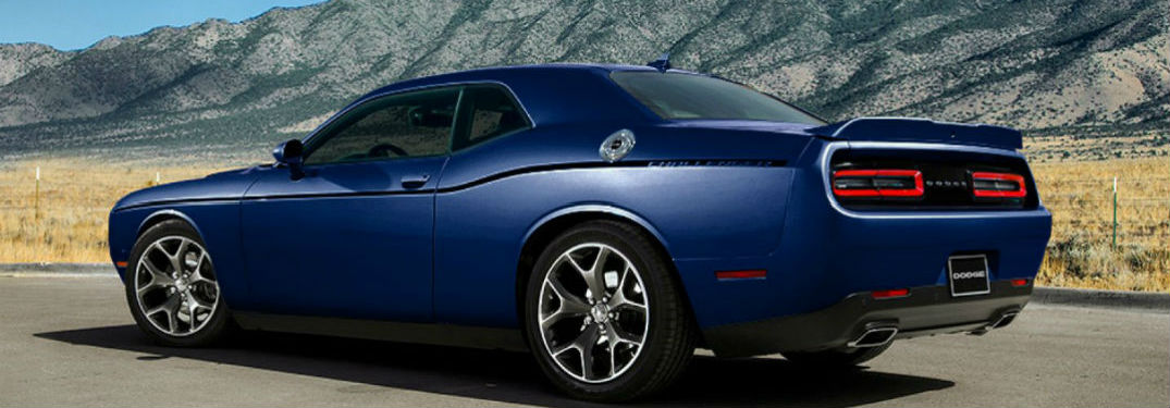 rear and side view of dodge challenger