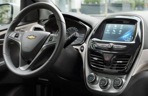 Chevy Spark dashboard and steering wheel