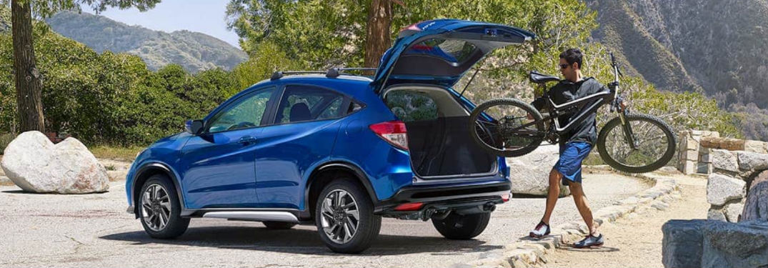 Honda HR-V with rear hatch open