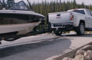 GMC Canyon towing a boat