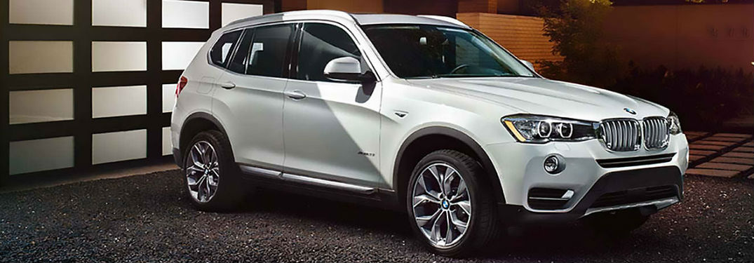 BMW X3 parked showing front and side profile