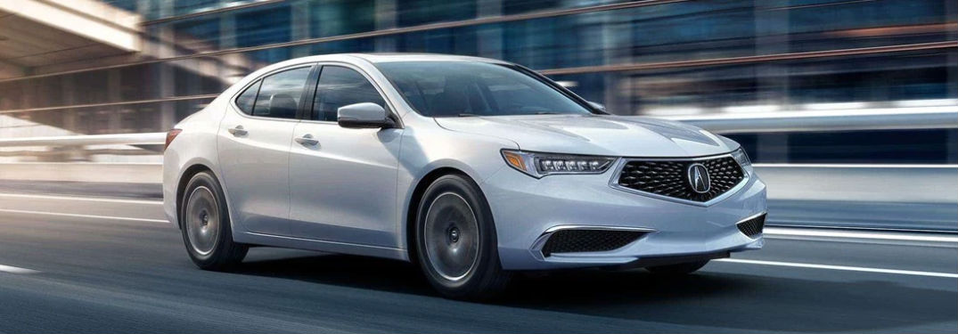 2019 Acura TLX driving on a road