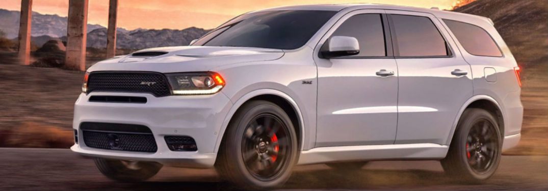 Dodge Durango parked showing side profile