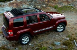 Jeep Liberty driving on a trail