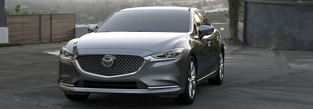 Mazda6 parked showing front profile