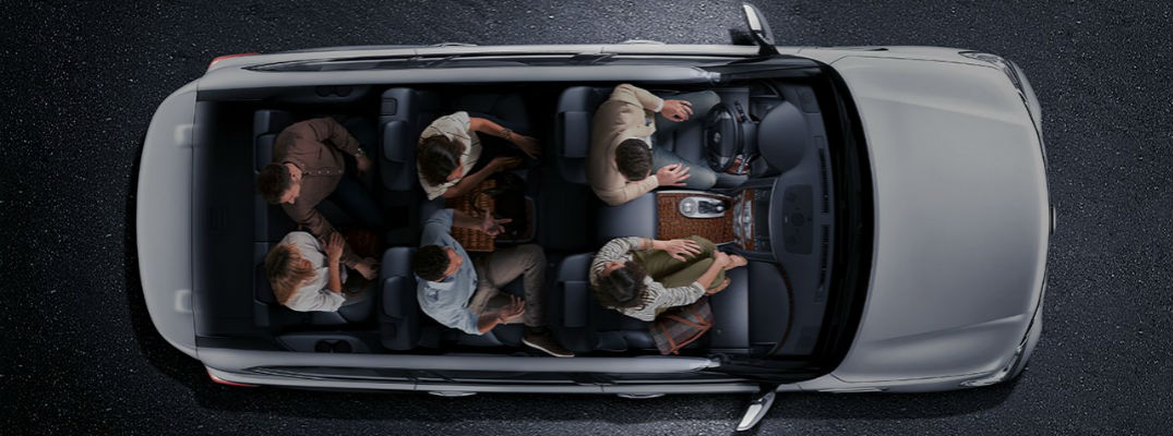 Nissan Armada with passenger seated in all three rows