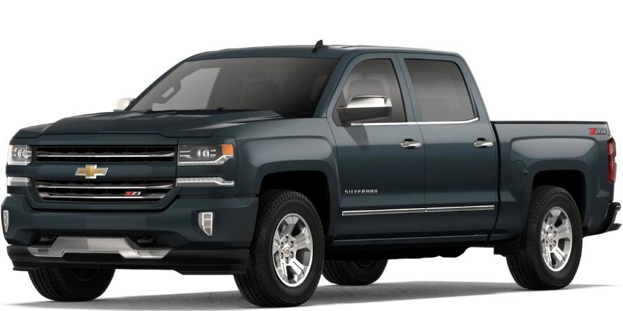 2018 Chevrolet Silverado 1500 Exterior Paint Color Options