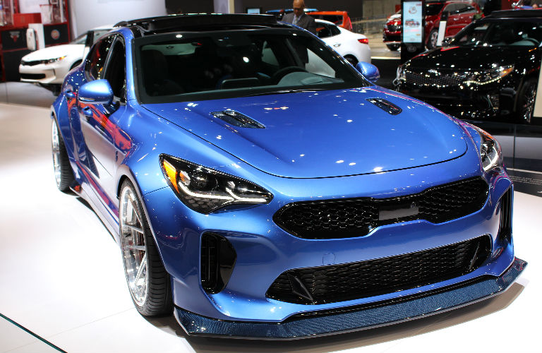Kia Stinger At The Chicago Auto Show - Kia car show