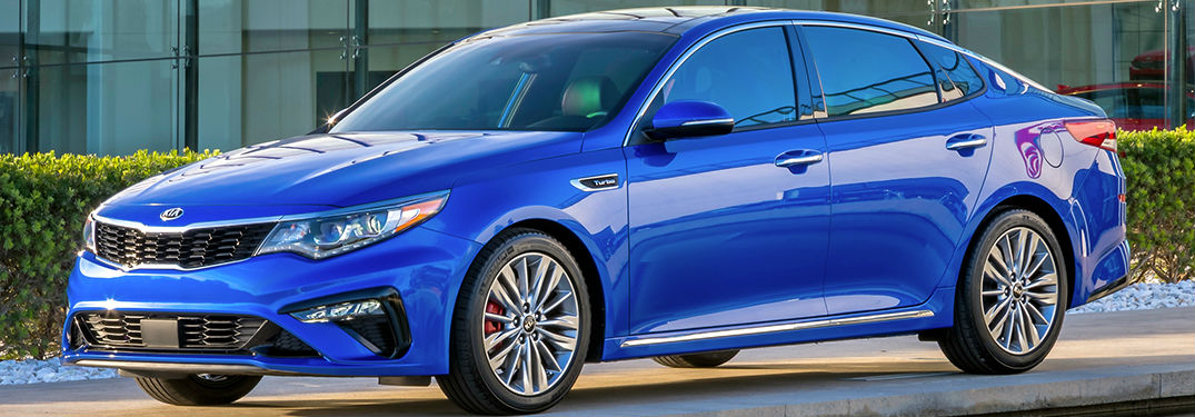 2019 Kia Optima in blue