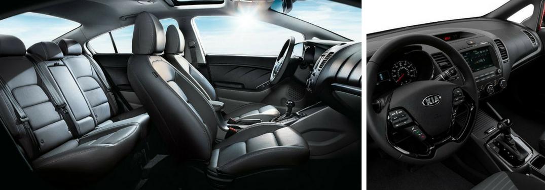2018 kia forte interior seating and dashboard