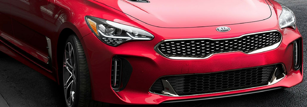 2018 kia stinger close up of headlights