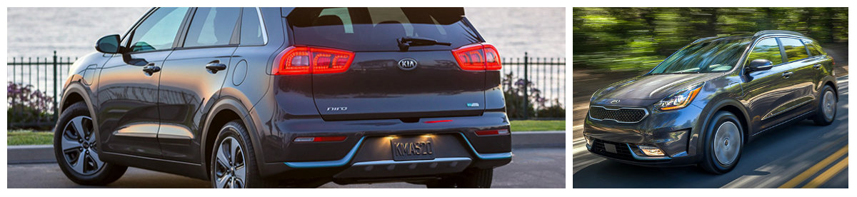 front and rear view of 2018 kia niro phev