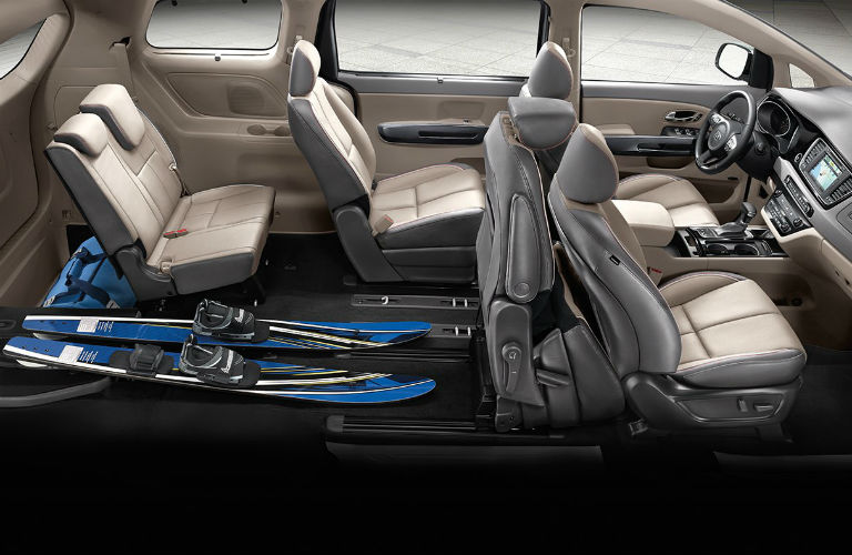 2018 kia sedona three row cargo capacity