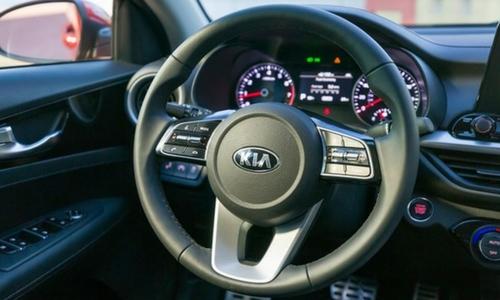 2019 kia forte closeup steering wheel