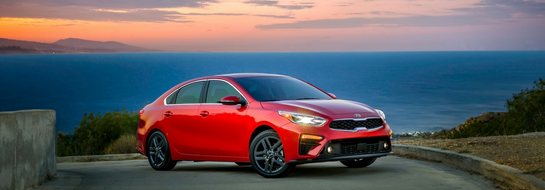 2019 kia forte parked during sunset