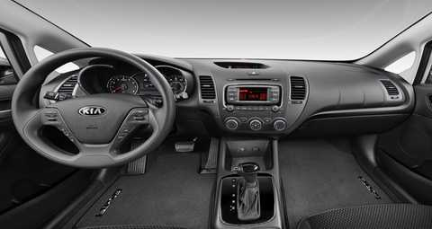 2018 Kia Forte Black Woven Cloth Interior