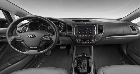 2018 Kia Forte Gray Leather Interior