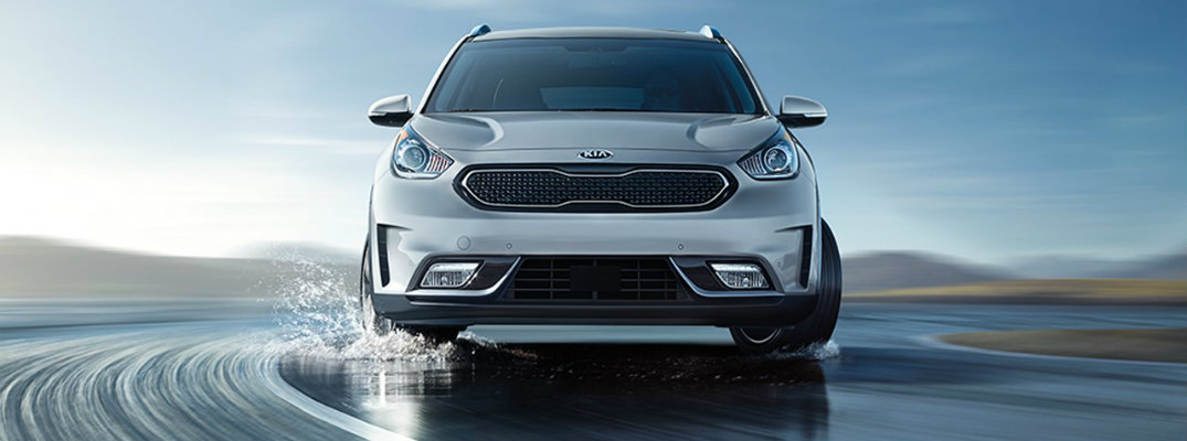 Stylized image illustrating 2018 Kia Niro Vehicle Stability Management System
