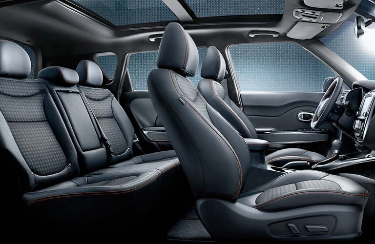 Two rows of seating inside 2019 Kia Soul