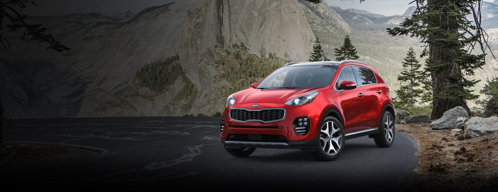 2018 Kia Sportage in Hyper Red