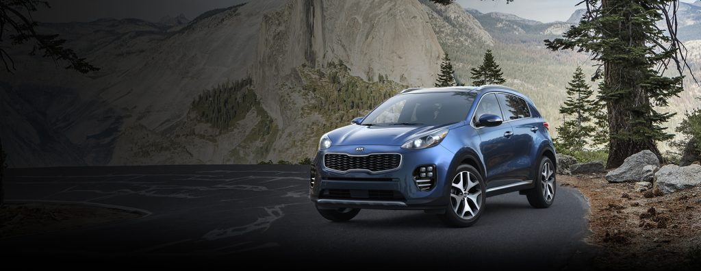2018 Kia Sportage in Pacific Blue