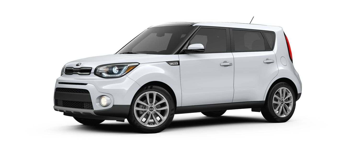 2019 Kia Soul Clear White side view