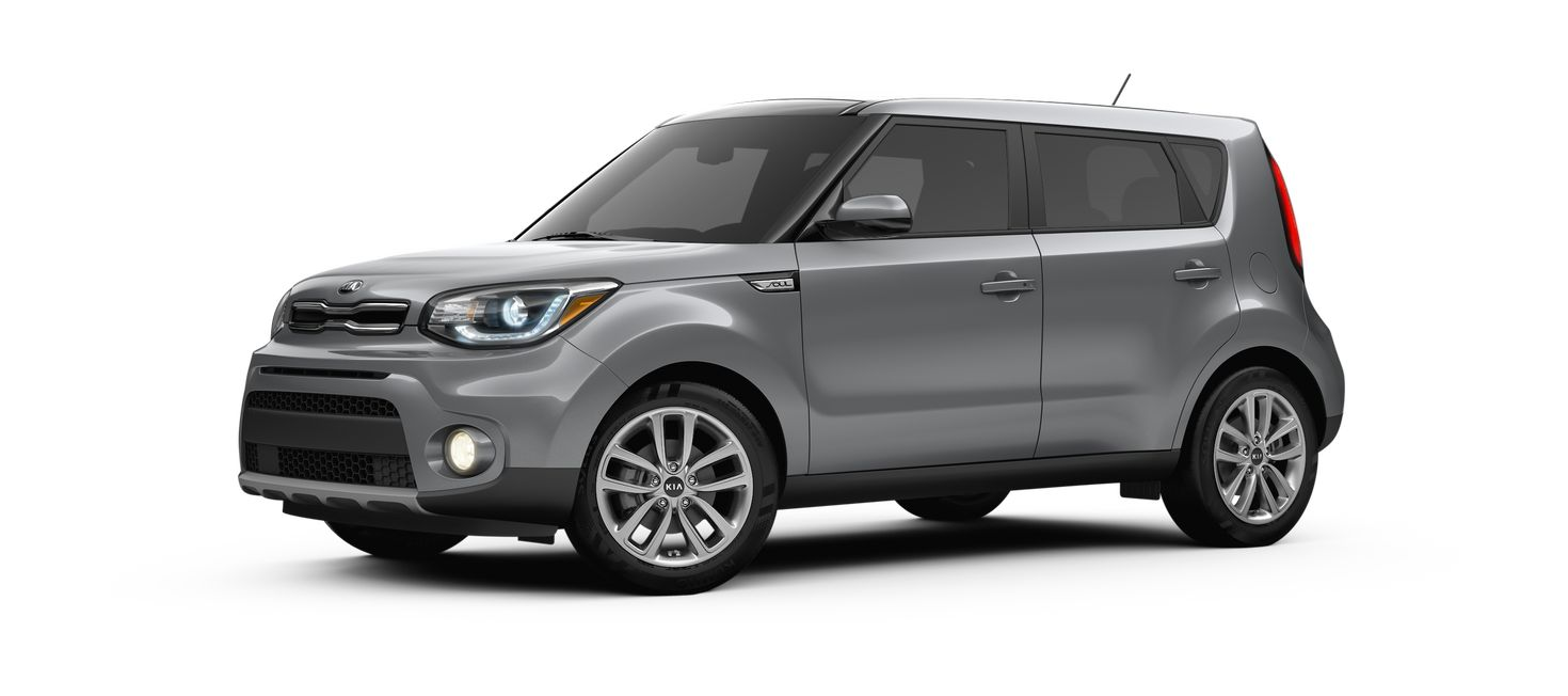 2019 Kia Soul Titanium Gray side view