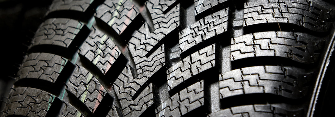 closeup of deep tire tread