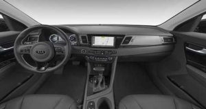 2019 Kia Niro Charcoal Cloth with Leather Interior Color Option