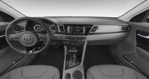2019 Kia Niro Gray Cloth with Leather Interior Color Option