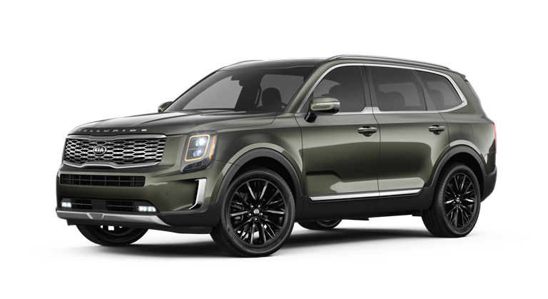 2020 Kia Telluride Dark Moss Exterior Color Option