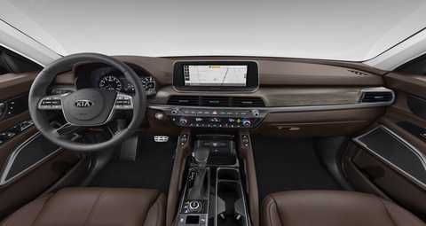 2020 Kia Telluride Espresso Brown Leather Interior Color Option