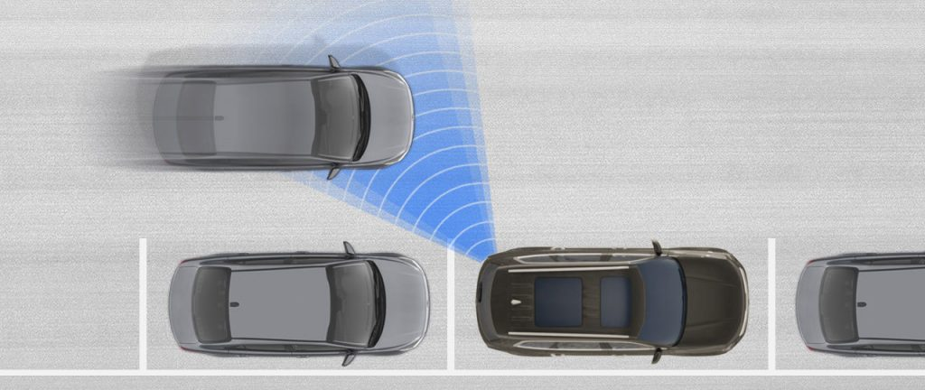 Visual representation of the 2020 Kia Telluride Safe Exit Assist feature