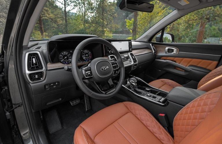 2021 Kia Sorento Steering Wheel, Dashboard and Touchscreen Display