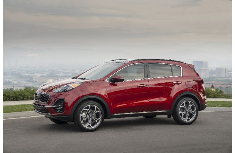 2021 Kia Sportage parked on road